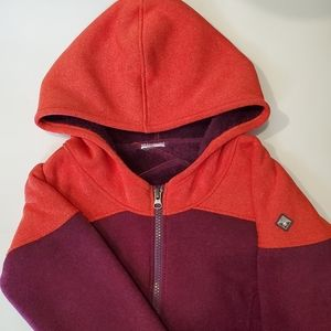 Spyder Women's Bliss Zip UP Hoodie New Without Tags Burgundy and Orange.